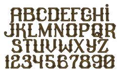 Decorative vintage font Time Machine Stock Photography