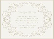 Decorative vintage frame. Decorative vintage frame for text Stock Photography