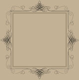Decorative vintage frame. Decorative black vintage frame in brown background Stock Image
