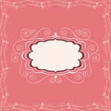 Luxury vintage frame. Decorative vintage frame of greeting card or invitation vector illustration