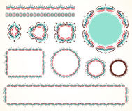 Decorative vintage frame (set 1) Royalty Free Stock Photo