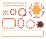 Decorative vintage frame (set 4) Stock Photo
