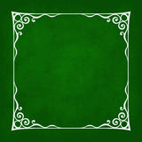Decorative Vintage Frame. Silhouette with separated corners. You can easily change aspect ratio of frame. Illustration has green grunge background Royalty Free Stock Images