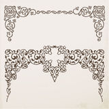 Decorative vintage frames and borders Stock Images