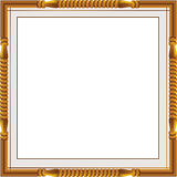 Decorative vintage frames and borders set,photo frame with corner line, corner silhouette, wood frame. Design is patterned Thai style Royalty Free Stock Photo