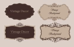 Decorative vintage frames and borders set vector Royalty Free Stock Photography