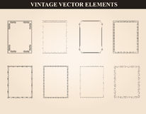 Decorative vintage frames and borders set vector Stock Photo