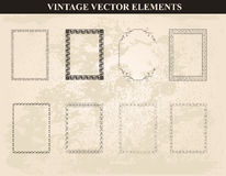 Decorative vintage frames and borders set vector Royalty Free Stock Photos