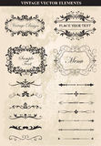 Decorative vintage frames and borders set vector Royalty Free Stock Images