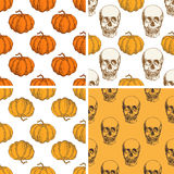 Decorative vintage Halloween patterns Stock Photography