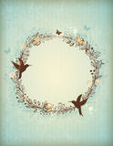 Decorative vintage hand drawn wreath Stock Images
