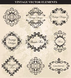 Decorative Vintage Ornament. Set vector.Vector Vintage Ornament  calligraphic elements, borders, page decoration. Vintage calligraphic elements Stock Images