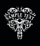 Decorative Vintage Ornate Banner Royalty Free Stock Photography