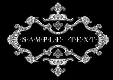 Decorative Vintage Ornate Banner Royalty Free Stock Image