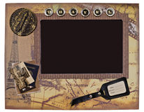 Decorative vintage photo frame for travel photos Royalty Free Stock Photography
