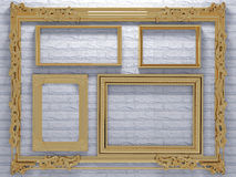 Decorative vintage picture frames Royalty Free Stock Image
