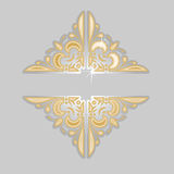 Decorative Vintage Silver Gold Ornate Banner. Stock Images