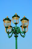 Decorative vintage street lights Stock Photos