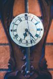 Decorative Vintage Wooden Wall Clock stock image