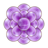 Decorative violet flower Stock Photography