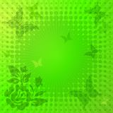 Decorative vivid green frame Royalty Free Stock Photo