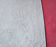 Decorative wall. Gray and red decorative wall stucco texture Royalty Free Stock Photo