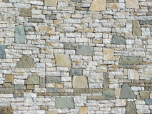 A decorative wall as background. A decorative wall with stone of different size and colour - to be used as background Royalty Free Stock Images