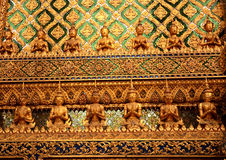 Decorative wall line thai Royalty Free Stock Images