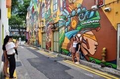 Decorative wall painting at Haji lane, Singapore Royalty Free Stock Images