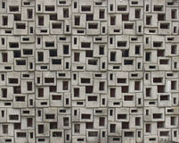 Decorative wall panel. Decorative wall composition with concrete elements stock photo