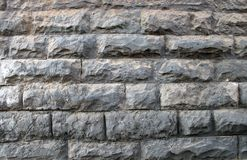 Decorative wall of stones and bricks royalty free stock image