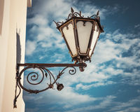 Decorative  wall street lamp Stock Images