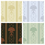 Decorative wallpaper. Classy decorative wallpaper seamless pattern Stock Images