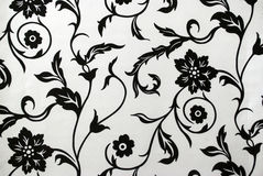 Decorative  wallpaper pattern  in black and white Stock Image