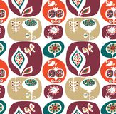 Decorative wallpaper pattern with flowers Royalty Free Stock Photo