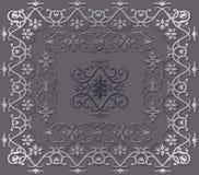 Decorative wallpaper pattern. Decorative wallpaper pattern on grey background Royalty Free Stock Image
