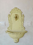 Decorative washstand. Stylization under old with the peeled-off Royalty Free Stock Image