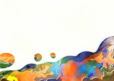 Decorative Watercolor Page Border Royalty Free Stock Photo