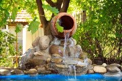 Decorative waterfall Royalty Free Stock Photo