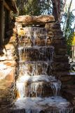 Decorative stone waterfall stock photos