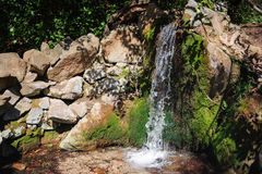 Decorative waterfall with a small pond Stock Photography