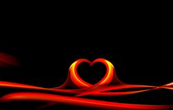 Decorative Wave Heart Background Royalty Free Stock Images