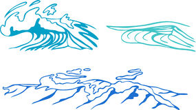 Decorative waves vector Stock Photography