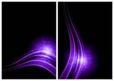 Black and purple abstract background Royalty Free Stock Photos