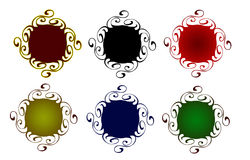 Decorative web buttons Royalty Free Stock Photos