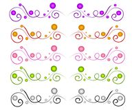 Decorative Web Page Dividers. A clip art collection of various colored web page dividers, elements or decorations which can also be used to add some color to Royalty Free Stock Photography