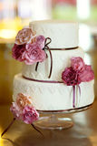 Decorative wedding cake Stock Photos