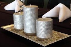 Decorative Wedding Candles Royalty Free Stock Image