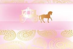 Decorative wedding card Stock Image