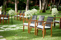 Decorative wedding chairs Stock Images